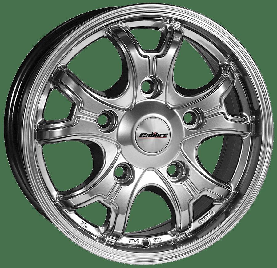 "Llanta Calibre Dominator 6.5x16"" Premium Silver 5x160 ET38"