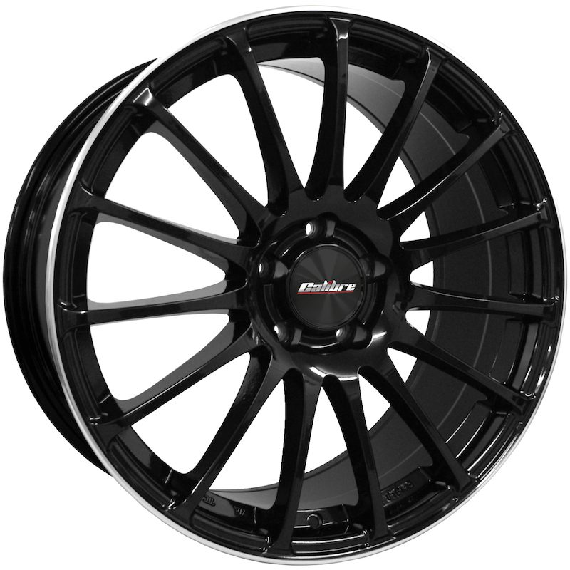"Llanta Calibre Rapid Gloss black 8.5x19"" Black/Polished Lip 5x112 ET32"
