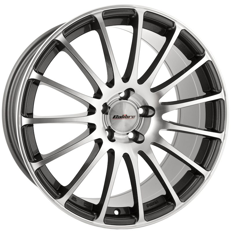 "Wheel Calibre Rapid_© 9.5x19"" Gunmetal Polished Face 5x112 ET35"