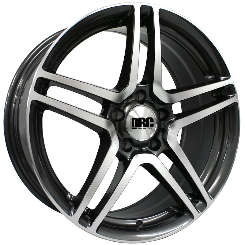 "Wheel DRC DMG 8x18"" Gunmetal/polished face 5x112 ET42"