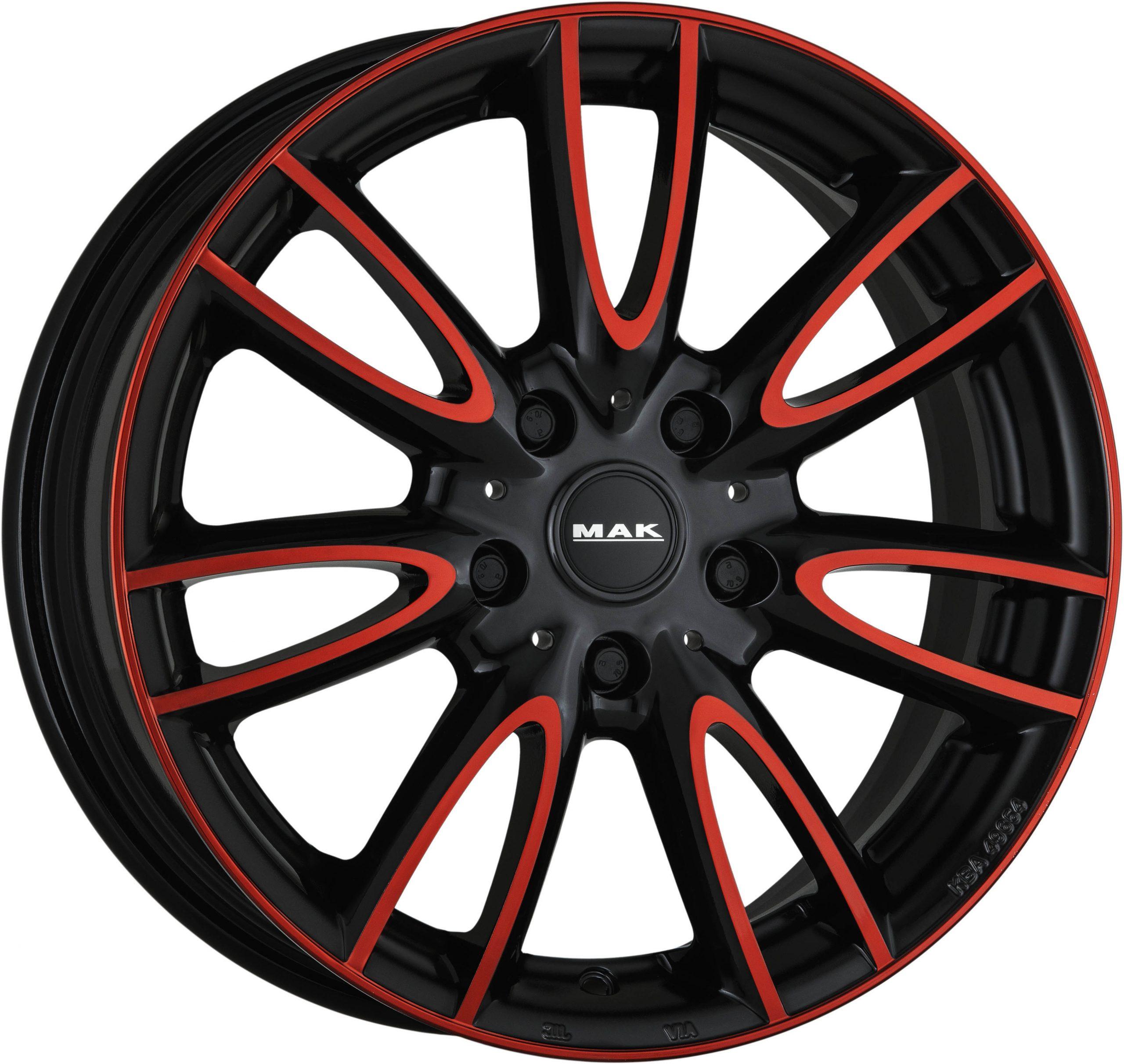Mak Jackie W Anod Red Black Wheelwright Alloy Wheels Steel Wheels Tyres Tpms Wholesale