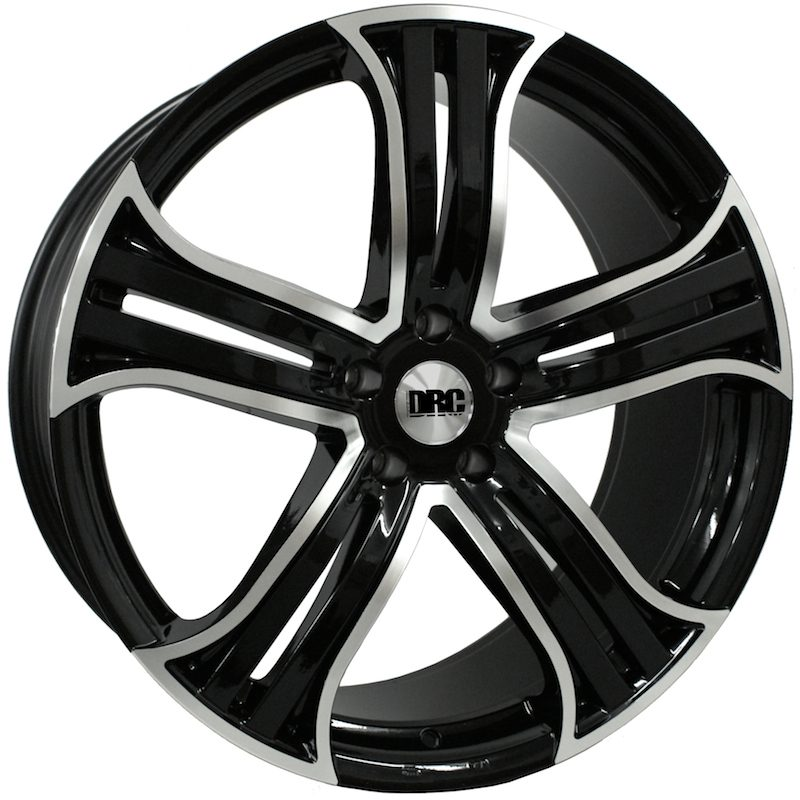 "Wheel DRC DRR 10x22"" Black/polished face 5x130 ET40"