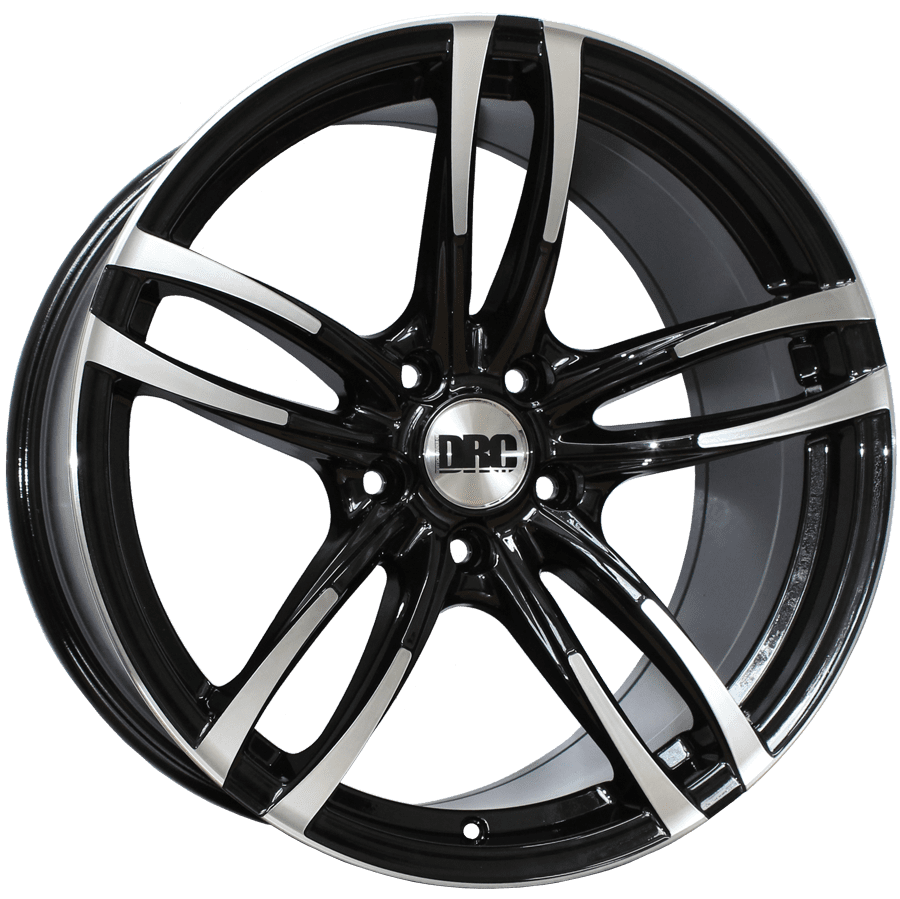 "Disk DRC - DMF 8.5x19"" (Black / Polished Face) ET33 5x120 72"